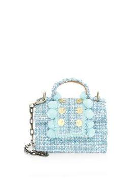 Small Juliet Embellished Tweed Mini Bag by Kooreloo
