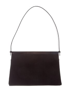 Patent Leather Trimmed Shoulder Bag by Gucci