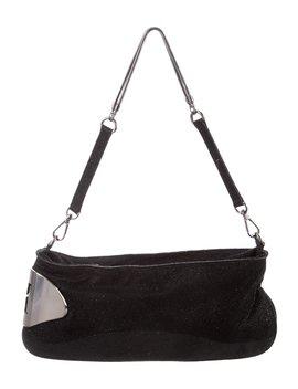 Textured Leather Shoulder Bag by Halston Heritage