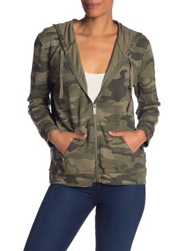 Avenue Camo Zip Up Jacket by Vince Camuto