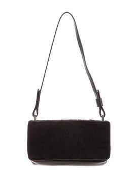 Ponyhair Trim Leather Shoulder B Ag by Prada