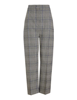 Haim Textured Check Trousers by Joseph