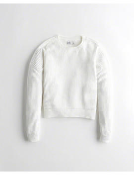Textured Crewneck Sweater by Hollister