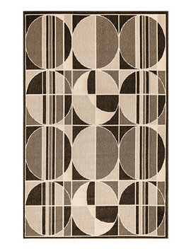 "Riviera 7636 Circles 1'11"" X 7'6"" Indoor/Outdoor Runner Area Rug by Liora Manne'"