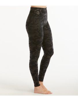 Faux Leather Camo Leather Leggings by Spanx