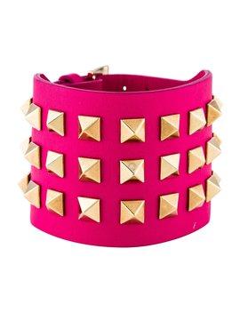 Rockstud Leather Wrap Bracelet by Valentino