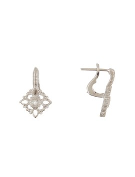 Sterling Silver La Petite White Topaz Filigree Earrings by Judith Ripka
