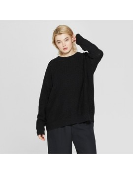 Women's Plus Size Long Sleeve Tunic Pullover Sweater   Prologue™ Black by Prologue