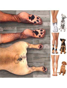 Feitong Funny Socks Adult Women Elastic Socks Ladies Animal Paw Feet Crew 3 D Print Ankle Foot Socks Calcetas Mujer 2018 Fashion by Feitong
