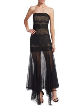 Strapless Lace Gown by Halston Heritage
