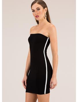 Single Life Striped Strapless Minidress by Go Jane