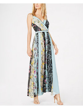 I.N.C. V Neck Patchwork Maxi Dress, Created For Macy's by Inc International Concepts