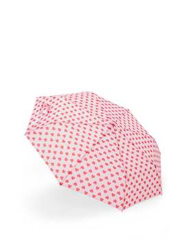Heart Print Umbrella by Forever 21