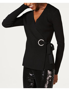 I.N.C. Embellished Grommet Wrap Sweater, Created For Macy's by Inc International Concepts