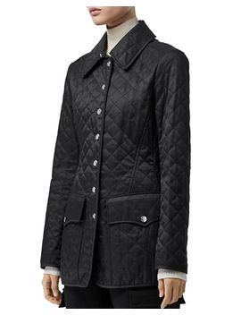 Mid Length Quilted Coat by Burberry