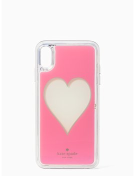 heart-liquid-glitter-iphone-xs-max-case by kate-spade
