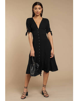 Just The Same Black Midi Dress by Tobi
