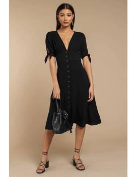 Just The Same Black Midi Dress by Tobi