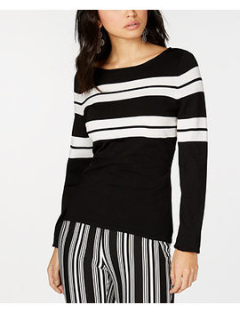 I.N.C. Striped Pullover Sweater, Created For Macy's by Inc International Concepts