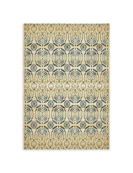 Unique Loom Mirrored Eden Outdoor 6' Runner Powerloomed In Beige by Bed Bath And Beyond