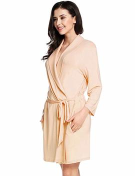 Avidlove Womens Three Quarter Sleeves Bathrobe Kimono Robe Comfort Sleepwear by Amazon