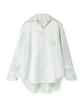 Oversized Silk Charmeuse Shirt by Matthew Adams Dolan