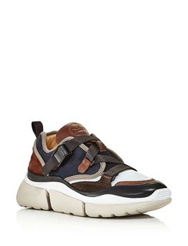 Women's Sonnie Lace Up Sneakers by Chloé