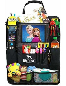 """D Moose Car Backseat Organizer With Tablet Holder For Kids And Toddlers (24"""" X 19"""") Large – Insulated Thermal Pockets, Strong Buckles   Use As Seat Back Protector, Kick Mat,... by D Moose"""