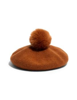Faux Fur Pompom Beret by Madewell