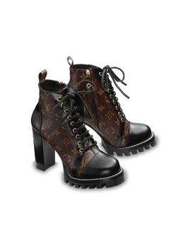 Monogram And Black Brown Star Trail Ankle Boots/Booties Boots/Booties by Louis Vuitton
