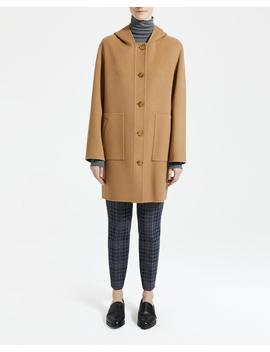 Wool Cashmere Hooded Patch Pocket Coat by Theory