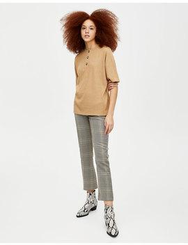 Pantalon Slim à Carreaux by Pull & Bear