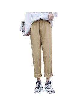 Women High Waist Denim Cotton Trousers 2018 Autumn Korean Ulzzang Harajaku Harem Cargo Pants Straight Wide Leg Pantalon Mujer by Xinliangyi
