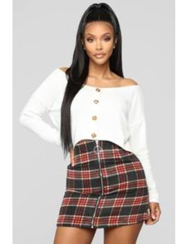 Stop And Stare Top   Ivory by Fashion Nova