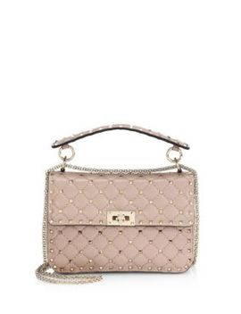 Medium Rockstud Quilted Top Handle Bag by Valentino
