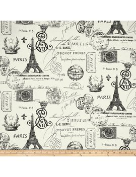Premier Prints French Stamp Twill Grey Fabric By The Yard by Premier Prints