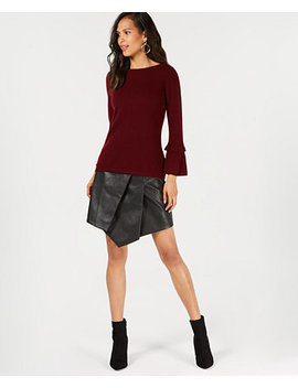 Pure Cashmere Ruffled Sleeve Sweater In Regular And Petite Sizes, Created For Macy's by Charter Club
