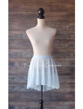Sunflower Custom Light Blue Seamless Ballet Skirt/Ballet Skirt With Mesh Waistband And Rolled Hem Edge/Ballet Rehearsal Skirt by Etsy