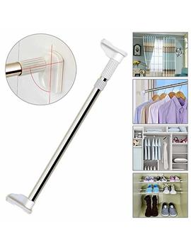 Ttmow Adjustable Tension Shower Curtain Rod Brushed Stainless Steel For Window Drapery With Fixed Triangle Structure And 2.5 Cm Thickened Diameter, Curtain Pole, Wardrobe Rail (90 160cm) by Ttmow