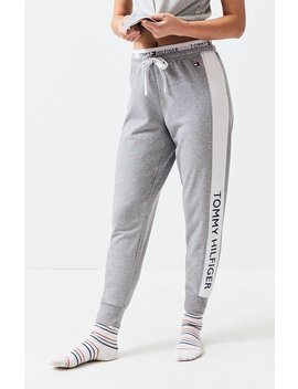 Tommy Hilfiger Heather Grey Colorblock Jogger Pants by Pacsun