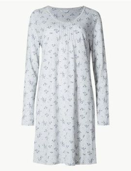 Modal Blend Ditsy Floral Print Nightdress by Marks & Spencer