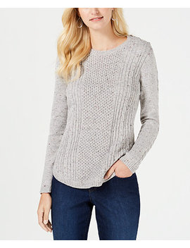 Cable Detail Sweater, Created For Macy's by Charter Club