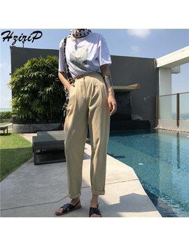 Hziri P Fashion Ol Casual Harem Pants Loose Summer Elastic High Waist Full Length Solid Elegant Pants & Capris  Ladies Plus Size by Hziri P
