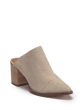 Tosh Snake Embossed Mule by Report