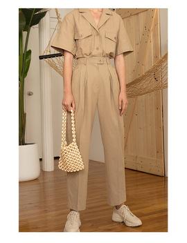 Smss Cotton Women Shirts 2018 Elegant Suit Collar Safari Style Summer Shirt Blouse Loose Bust Drop Shoulder Khaki Blouse Blusa  by Ali Express