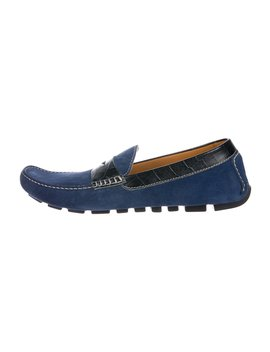 Suede Driving Loafers W/ Tags by Doucal's