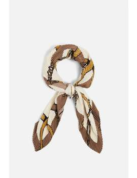 Pleated Chain Print Scarf  New Inwoman New Collection by Zara