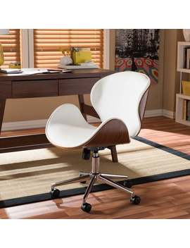 Carson Carrington Nybro Walnut Wood Modern Office Chair by Carson Carrington