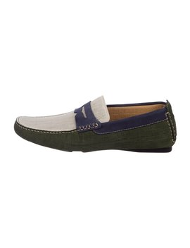 Colorblock Suede Loafers W/ Tags by Doucal's