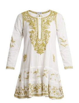 Embroidered Cotton Dress by Juliet Dunn